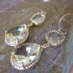 Citrine Earrings Yellow Gold Earrin..