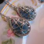 Sapphire Earrings Dark Blue - Sterl..